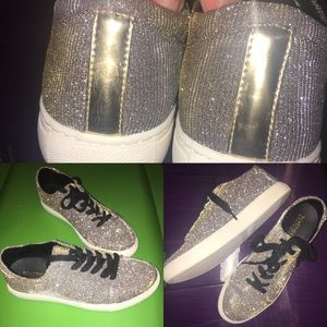 NWOT Kenneth Cole Sparkle Sneakers